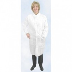 Alpha ProTech - LC32632 - Critical Cover AlphaGuard Lab Coats, Tapered Collar 3 Pockets, Knit Wrists, Serged Seams, White, Sizes Small thru 4X-Large