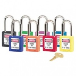 Gasco - 410 SERIES - Thermoplastic Safety Padlocks, Keyed, Different Colors