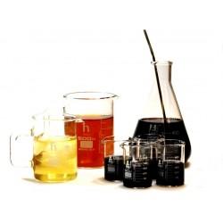 hBARSCI - BARSET1 - Premium Laboratory Glass Bar Set- (4) Beaker Shotglasses, (1) 16.9oz Beaker Mug, (1) 8.4oz Beaker Mug, Conical Flask, and Stirrer