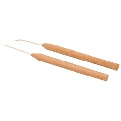 Eisco Scientific - BI0164A - Needle Hardwood Handle - Straight
