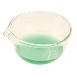 Eisco Scientific - CH0068D - Basin Evaporating, outer Dia 200mm, borosilicate glass, flat bottom with spout