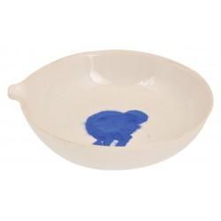 Eisco Scientific - CH0071C - Basin Evaporating, Cap. 80ml, outer Dia 80mm, Porcelain, round form with spout