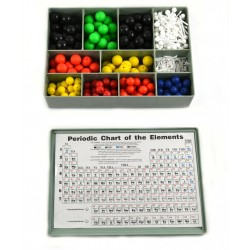 Eisco Scientific - CH0608A - Organic and Inorganic Chemistry Molecular Atomic Model Set - 520 Pieces with Hard Plastic Case
