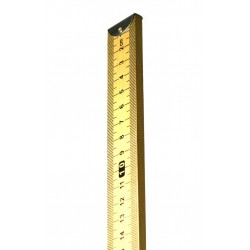 Eisco Scientific - PH0064E - Double-Sided Hardwood Meter Stick - Horizontal Reading with Metal End - Eisco Labs