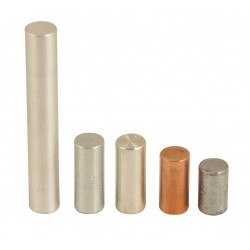 Eisco Scientific - PH0112FCB - Eisco Labs Equal Mass Cylinder Set.- Aluminum, Copper, Tin, Zinc, Lead - 5 cylinders