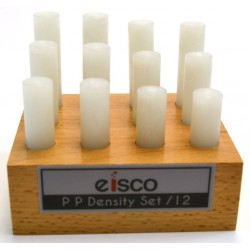Eisco Scientific - PH0113H - Eisco Labs Polypropylene Density Set, 12 Rods, Varying Length with Holder
