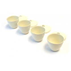 hBARSCI - SCIENCESAKESET100ML - Scientific Grade Sake Set, Glazed Porcelain (8 Pieces - 4 cups and 4 lids)