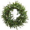 Nearly Natural - 4541 - 18in Eucalyptus Double Ring Wreath w/Twig Base