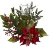 Nearly Natural - 4951 - Poinsettia Candleabrum