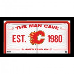 Steiner Sports - FLAMPHA010000 - Calgary Flames Man Cave Sign 10x20 Framed Photo