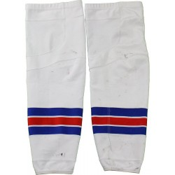 Steiner Sports - 1516NYRWHSK0000 - New York Rangers 2015-16 Season Game Used White Socks Pair