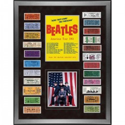 Steiner Sports - BEATPHA020000 - The Beatles American Tour 1964 Framed 24x32 Ticket Collage