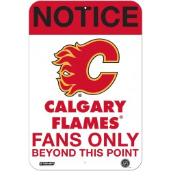 Steiner Sports - FLAMSIU008000 - Calgary Flames Fans Only 8x12 Aluminum Sign