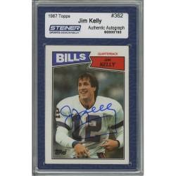 Steiner Sports - KELLCDB000001 - Jim Kelly Signed 1987 Topps Rookie Card Slabbed by Steiner