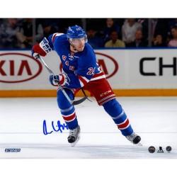 Steiner Sports - LINDPHS008001 - Oscar Lindberg Signed Skating Home Game 8x10 Photo