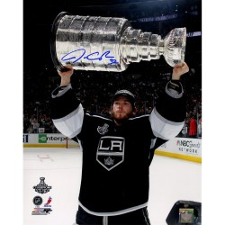 Steiner Sports - QUICPHS016001 - Jonathan Quick Signed Holding Stanley Cup Trophy Vertical 16x20 Photo