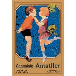 Buyenlarge - 01584-5P2030 - Chocolate Amatller: Barcelona (Kissing Children) 20x30 poster