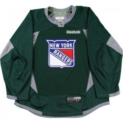 Steiner Sports - 1516NYRJGR00002 - New York Rangers 2015-2016 Season Green Practice Jersey Size 58