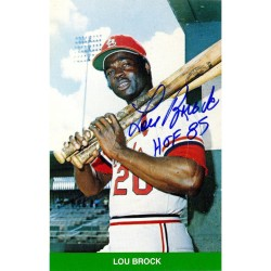 Steiner Sports - BROCCDS000002 - Lou Brock Signed Trading Card JSA