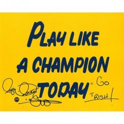 Steiner Sports - ISMAPHS008002 - Raghib Rocket Ismail Signed Notre Dame Play Like A Champion 8x10 Photo w/Go IrishInsc