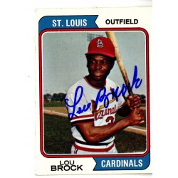 Steiner Sports - BROCCDS000003 - Lou Brock Signed Miscellaneous Trading Card JSA