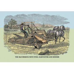 Buyenlarge - 07578-3CG28 - The McCormick New Steel Harvester and Binder 28x42 Giclee on Canvas