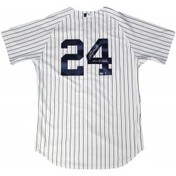 Steiner Sports - HENDJES000005 - Rickey Henderson Signed New York Yankees nbr24 Home Pinstripe Authentic Jersey w/ Man of Steel Insc MLB Auth