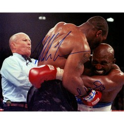 Steiner Sports - HOLYPHS008005 - Mike Tyson Evander Holyfield Dual Signed Biting Holyfield 8x10 Photo