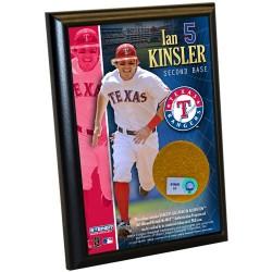 Steiner Sports - KINSPLU004000 - Ian Kinsler Rangers 4x6 Dirt Plaque