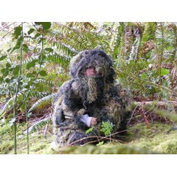 StealthSuit - ST-10003WYL - Kids Paintball Sniper 4-Piece Woodland Ghillie Suit - Large