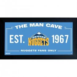 Steiner Sports - NUGGPHA006001 - Denver Nuggets Man Cave Sign 6x12 Framed Photo