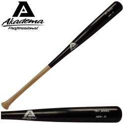Akadema - A843-32 - Akadema A843-32 Pro Level Quality Adult Amish Wood Baseball Bat 32 IN