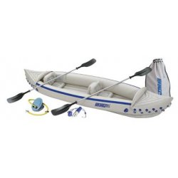 Sea Eagle - SE370K_D - Sea Eagle 370 12ft 3in Inflatable Kayak Incl Paddles Seats and Pump