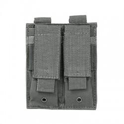 NcSTAR - CVP2P2931U - NcStar CVP2P2931U 5-1/2-Inch VISM Double Pistol Magazine PALS Pouch, Urban Gray