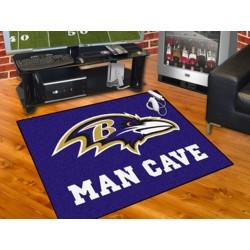 Fanmats - 14268 - Baltimore Ravens Man Cave All-Star Mat 33.75x42.5
