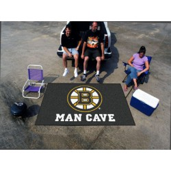 Fanmats - 14395 - Boston Bruins Man Cave UltiMat Rug 5x8