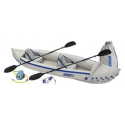Sea Eagle - SE370K_P - Sea Eagle 370 Inflatable 12ft 6in Kayak Incl Paddles Seats and Pump