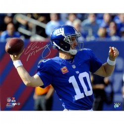 Steiner Sports - MANNPHS008009 - Eli Manning Signed Throwing A Pass From 100th Career Win 8x10 Photo
