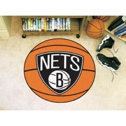 Fanmats - 10204 - NBA - Brooklyn Nets Basketball Mat 27 diameter