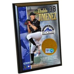 Steiner Sports - JIMEPLU004000 - Ubaldo Jimenez 4X6 Dirt Plaque