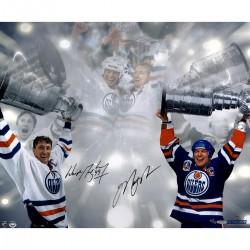 Steiner Sports - GRETPHS016010 - Wayne Gretzky/Mark Messier Dual Signed Edmonton Oilers Stanley Cup 16x24 Photo UDA/SSM UDA LE/99