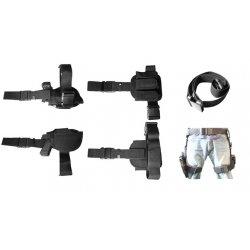 NcSTAR - CV2908 - NcStar CV2908 3-Piece Universal Right Handed Drop Leg Gun Holster, Black