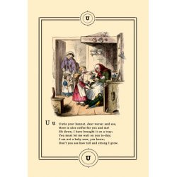 Buyenlarge - 09038-3CG12 - Little Lily's Alphabet: Untie Your Bonnet 12x18 Giclee on canvas