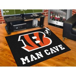 Fanmats - 14284 - Cincinnati Bengals Man Cave All-Star Mat 33.75x42.5