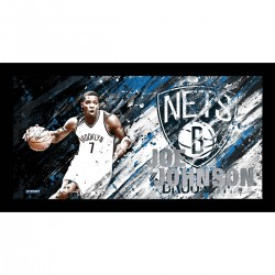 Steiner Sports - JOHNPHA010001 - Joe Johnson Brushstroke Framed 10x20 Collage with Game Used Jersey Swatch