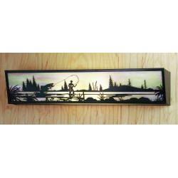 Meyda - 51687 - 31 Inch W Fly Fishing Creek Vanity Light