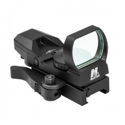 NcSTAR - D4BLQ - NcStar D4BLQ Quick Release Multi-Reticle Blue Dot Reflex Sight, Black