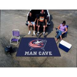 Fanmats - 14419 - Columbus Blue Jackets Man Cave UltiMat Rug 5x8
