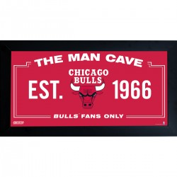 Steiner Sports - BULLPHA001000 - Chicago Bulls Man Cave Sign 10x20 Framed Photo
