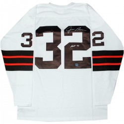 Steiner Sports - BROWJES000004 - Jim Brown Cleveland Browns Signed Mitchell & Ness Football Jersey w HOF 71 Insc (AJ Sports Auth)